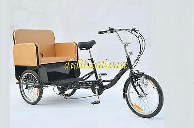 BRAND NEW RICKSHAW PEDICAB TRICYCLE BICYCLE ADULT 6 GEAR SHIMANO