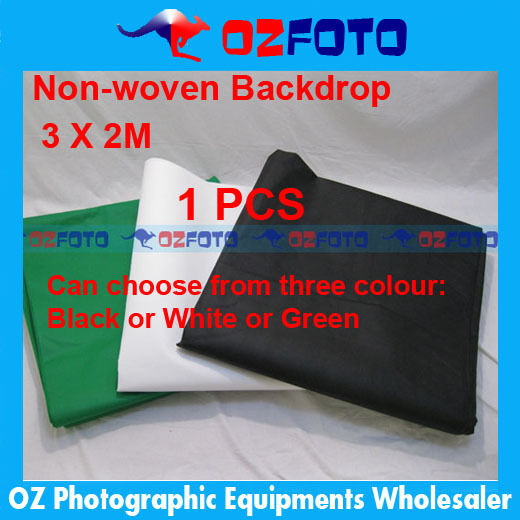 1PCS Photo Studio Photography Non Woven Background Backdrop Black or White or Gr