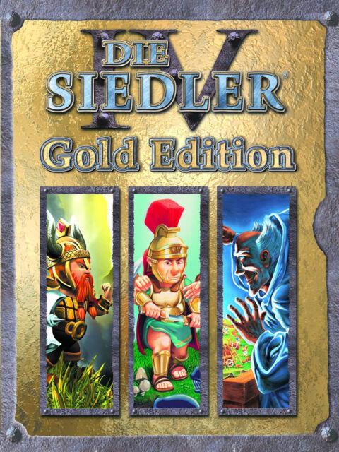 Die Siedler IV - Gold Edition (PC, 2007, DVD-Box) Vollversion Deutsch
