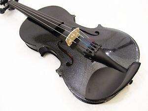 New-4-4-Black-Violin-VB-280BK-Case-Bow-Rosin-Free-Violin-string-set