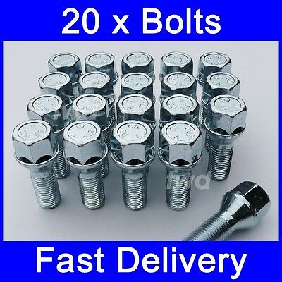 20 x ALLOY WHEEL BOLTS FOR VOLVO XC90 (2002 - PRESENT) NUTS LUG [7Z]