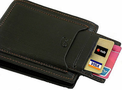 HQ Stylish Mens Genuine Leather Slim Short Wallet Card Holder Pouch