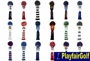New-Premier-League-Football-Golf-Pom-Pom-Wood-Head-Covers-Driver-Fairway