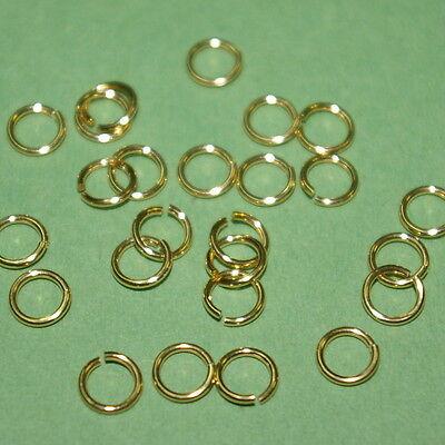 10 pieces 14kt GOLD FILLED 6mm OPEN JUMP RINGS 0.8mm 20 gauge - BalliSilver