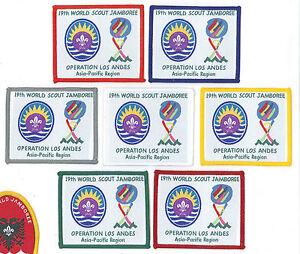 1999 World Scout Jamboree ASIA PACIFIC SCOUTS REGION (APR) Contingent Patch SET