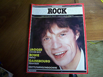 ROCK Magazine-1983-Mick Jagger on cover-David Bowie Movie Star (French)