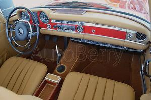 mercedes w113 pagoda 230sl 250sl 280sl carpet kit replacement upholstery 63 71 ebay. Black Bedroom Furniture Sets. Home Design Ideas