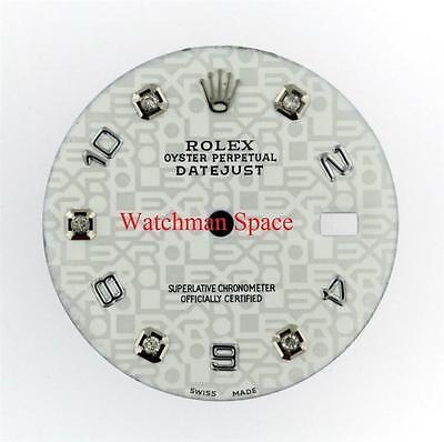 Mes Rolex Datejust Quickset White Jubilee Pattern Diamond & Arabic Dial S/S #N3