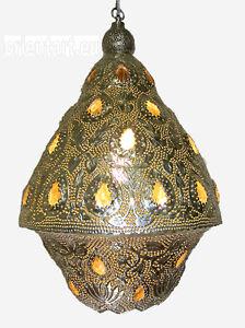 orientalische messing versilbert decken h ngelampe 1001 nacht lampe amun a ebay. Black Bedroom Furniture Sets. Home Design Ideas