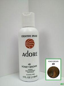 CREATIVE IMAGE ADORE SEMI PERMANENT HAIR COLOR 48 HONEY BROWN 4oz  EBay