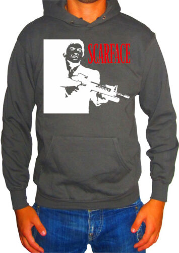 Fm10 Hooded Sweatshirt Man 2 Scarface Tony Montana Al Pacino Cinema/&tv