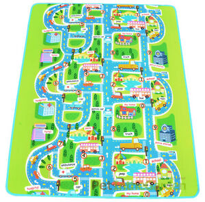 kids car road track children play mat pad rug lego big 2m x 1 6m carry bag ebay. Black Bedroom Furniture Sets. Home Design Ideas
