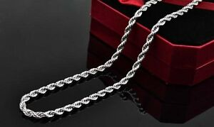 Mens-1pcs-2mm-4mm-Sterling-Silver-Twisted-Rope-Chain-Necklace-16-24-925-Stamp