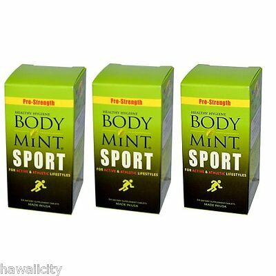 Body Mint Sport for Active and Athletic Lifestyles - 3 PACK FREE SHIPPING