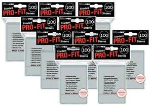 1000-ULTRA-PRO-Soft-Card-Sleeves-PRO-FIT-MTG-Pokemon-STANDARD-Deck-Size