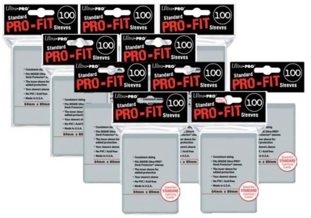 (1000) ULTRA PRO Soft Card Sleeves *PRO-FIT* MTG Pokemon STANDARD Deck Size