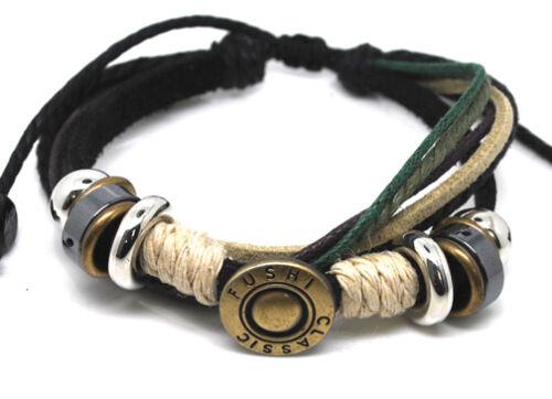 pulsera de estilo surfista señores señora Leather Bracelet pulsera de cuero unisex El tíbet serie 31