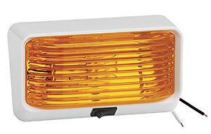 12 Volt Exterior Porch Light W On Off Switch Amber Lens