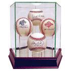 Steiner Casebauqua002 Glass Baseball Display Case, 4 Baseballs