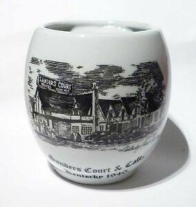 KFC-Commemorative-Mug-Cup-MALAYSIA-Sanders-Court-1940-Design-Black-White-RARE