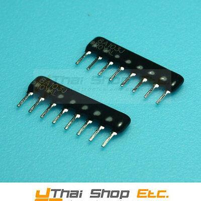 10 x 1K Ohm 9 Pins 8 Resistors Resistor Network Array 1/8W