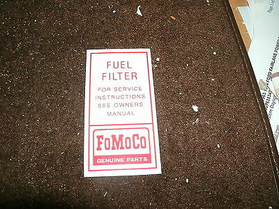 1966 mustang fuel filter 1964 1 2 1965 1966 ford mustang and shelby fomoco fuel filter  1964 1 2 1965 1966 ford mustang and