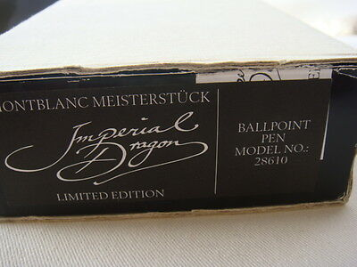 """MONTBLANC """"IMPERIAL DRAGON"""" BALL POINT 0914/3500"""