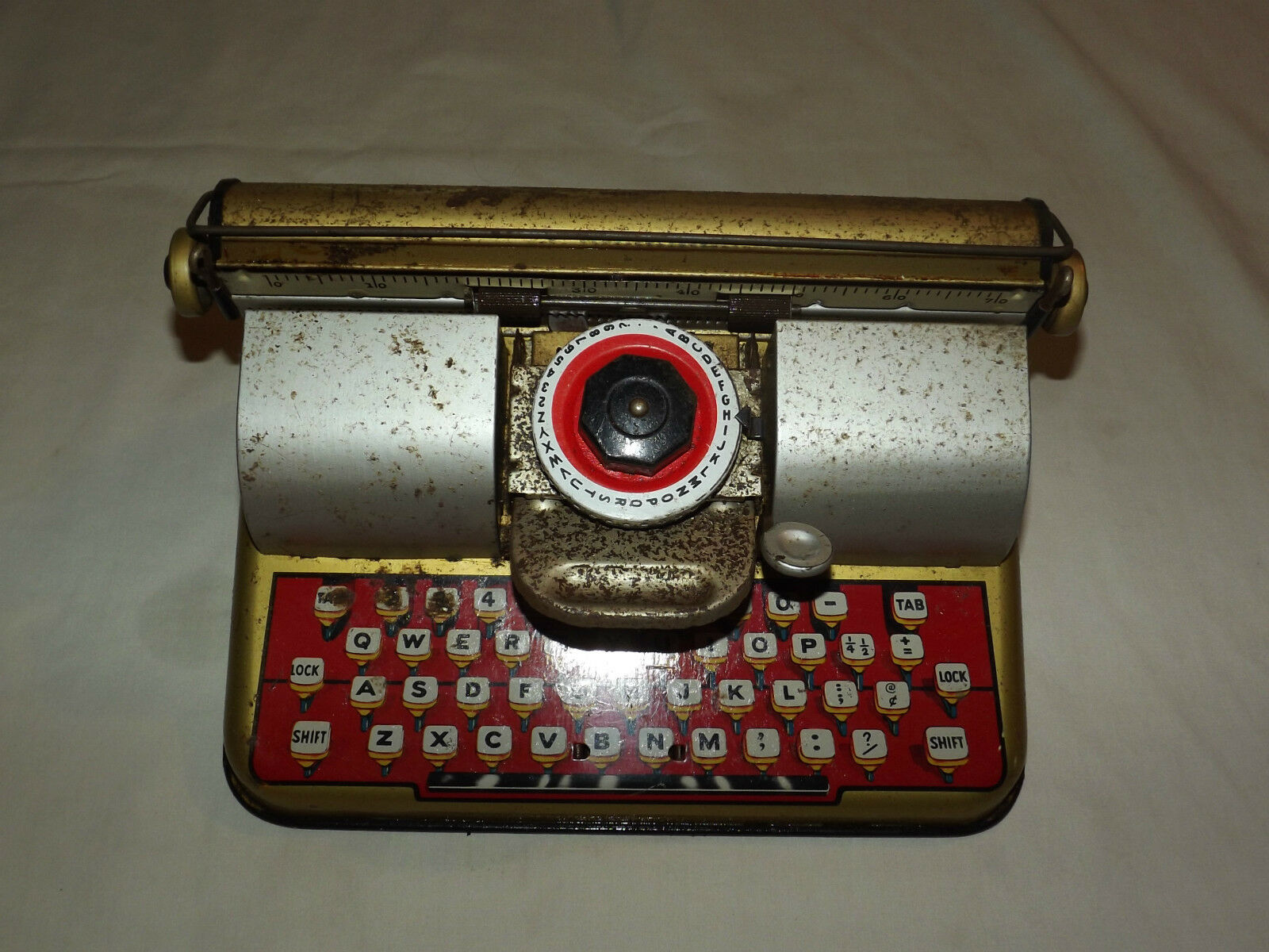 VINTAGE 1940S TOY BERWIN SUPERIOR TIN LITHO TYPEWRITER