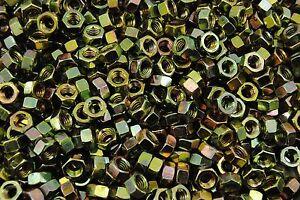 (325) 5/16-18 Grade 8 Hex Finish Nuts - Yellow Zinc - Coarse