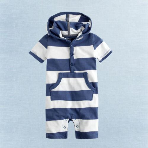 "Vaenait Baby Newborn Girls boys One piece Bodysuit Outfit /""Hoodie Stripe/"" 3-18M"