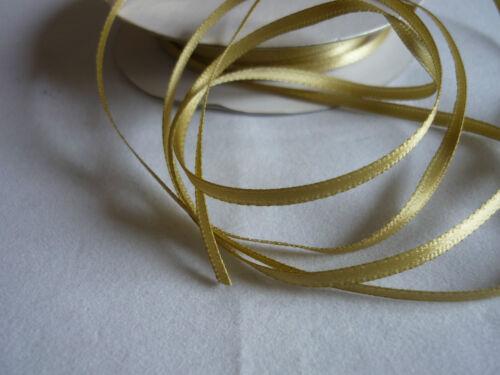 3mm x 5metre double ruban de satin-bomboniere cartes couture gâteaux faveurs de mariage