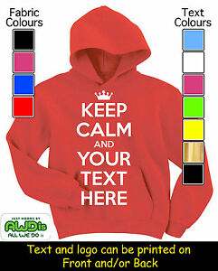 KEEP-CALM-amp-YOUR-TEXT-PERSONALISED-HOODIE-HOODIES-GIFT-FOR-A-CHILD
