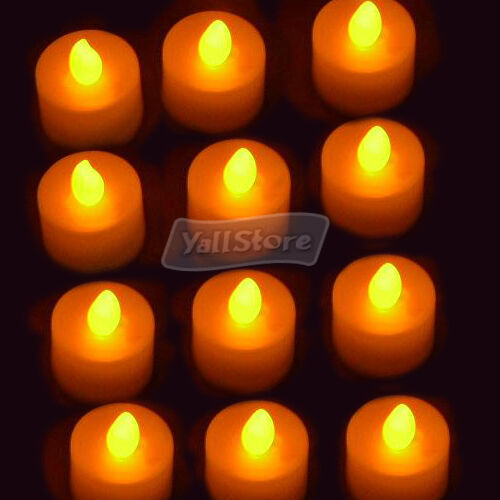 24 Light Flameless LED Tealight Tea Candles with Batteries