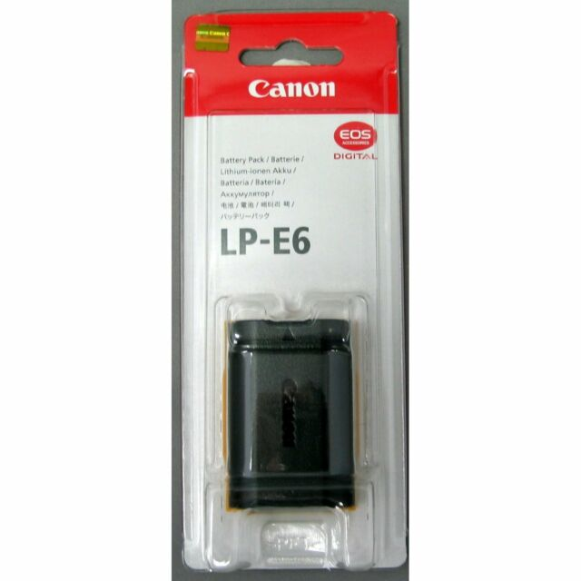 Genuine Canon Battery Pack LP-E6 for Canon EOS 5D Mark II, 60D and 7D Cameras