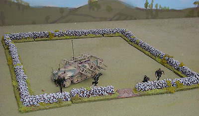 WARGAMES 15mm20mm DRYSTONE WALLING Flames of war  WW2 rapidfire made by FATFRANK