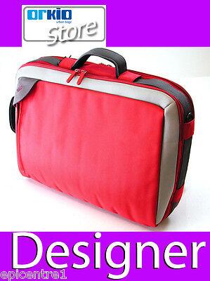 "ORKIO DESIGNER 15"" LAPTOP NOTEBOOK NETBOOK BAG CASE RED"