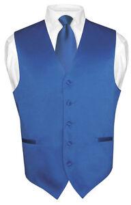 Mens-ROYAL-BLUE-Tie-Dress-Vest-and-NeckTie-Set-for-Suit-or-Tuxedo
