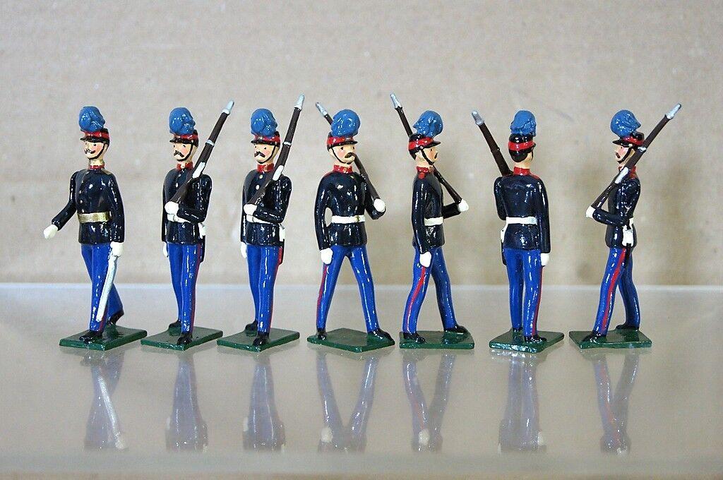 Réplica Modelos Patricio Campbell Britains Uruguayo Infantería Marchando X 7 Mv