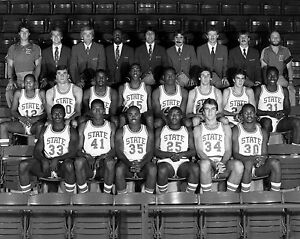 NC State University - 1983 NCAA Basketball Champions, 8x10 B&W Team Photo | eBay