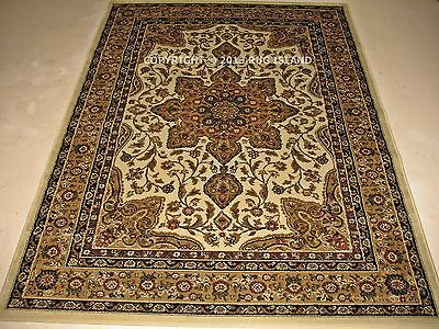 *SALE* 8x10 (7'8 x 10'4) Traditional Oriental Persian Cream Ivory Gold Area Rug