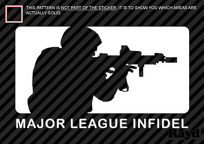 (2x) Major League Infidel Sticker Decal Die Cut vinyl