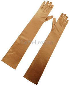 NEW-1-Pairs-22-034-Inches-Long-Opera-Gloves-Metallic-Gold-Partywear-2001-gold