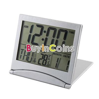 New Desk Digital LCD Thermometer Calendar Alarm Clock HKUS