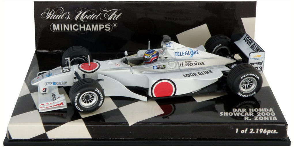 Minichamps BAR HONDA Showcar 2000-Ricardo Zonta  SCALA