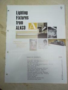 Image is loading Vtg-Alkco-Manufacturing-Co-Brochure-Lighting-Fixtures- Lights- & Vtg Alkco Manufacturing Co Brochure~Lighting Fixtures/Lights~Catalog ...