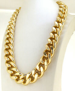 CUT-LIGHT-GOLD-ALUMINIUM-CURB-LINK-CHAIN-NECKLACE-HEAVY-20MM-WIDE-18-034-24-034-38-034