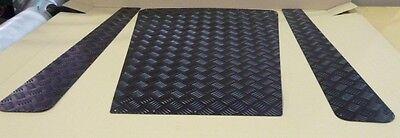 LAND ROVER DEFENDER 90/110 BLACK BONNET PROTECTOR & BONNET SIDE PLATES - to US