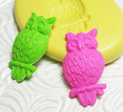 Silicone Resin Clay Fondant Flexible Polymer FIMO Push Mold OWL CABOCHON