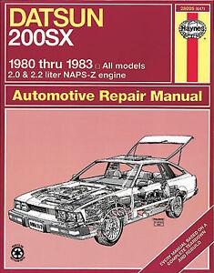 1988 nissan 200sx repair shop manual original.