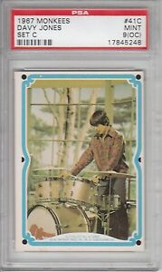 1967-Donruss-Monkees-Set-C-41C-Davy-Jones-PSA-9-OC